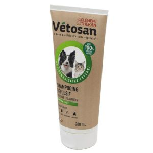 VETOSAN Anti-parasitaire Externe Shampooing Répulsif 200ml - Chien, Chat