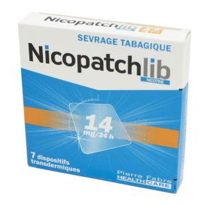 Nicopatchlib 14 mg, dispositif transdermique transparent - B/7