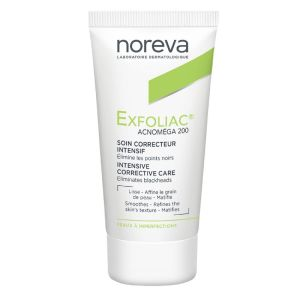EXFOLIAC Acnoméga 200 - Soin Correcteur Intensif Points Noirs - Peaux à Imperfections - T/30ml