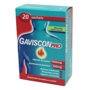 GavisconPro, suspension buvable - 20 sachets