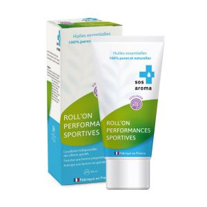 SOS AROMA Performances Sportives Roll-on 50ml - Gel aux Huiles Essentielles 100% Pures & Naturelles