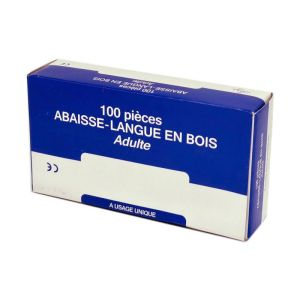 COOPER Abaisse-Langue en Bois Naturel Adulte - A Usage Unique - Bte/100