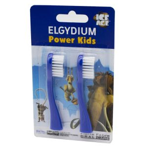 ELGYDIUM POWER KIDS 2 Brosse de Rechange pour la Brosse à Dents POWER KIDS - Bte/2