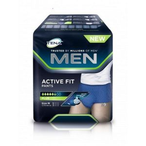 TENA MEN Active Fit Pants M (Médium) - Slip/Protection Absorbante Homme Jetable - Bte/9