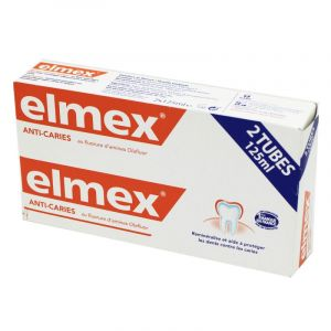 ELMEX ANTI CARIES Lot de 2 Dentifrices Anti Caries 125 ml - T/125ml x2 - GABA