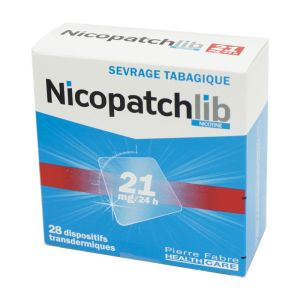 Nicopatchlib 21 mg, dispositif transdermique transparent - B/28