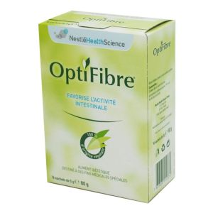 OPTIFIBRE Stick 5g - Poudre Anti Constipation 100% d' Origine Naturelle - Bte/16 Sticks - NESTLE