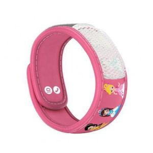 PARAKITO KIDS Bracelet PRINCESS - Bracelet Anti Moustiques Rechargeable Couleur Rose Kid's Collectio