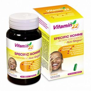 VITAMIN'22 Specific Homme 60 Gélules - Action Fortifiante, Anti Fatigue
