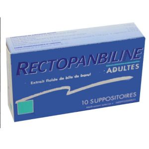 Rectopanbiline Adultes, 10 suppositoires