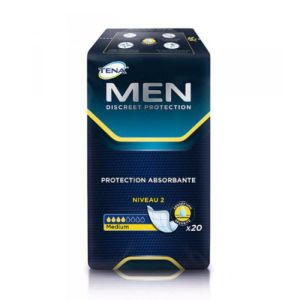 TENA MEN Medium Niveau 2 Bte/20 - Protection Absorbante Homme - Incontinence Modérée