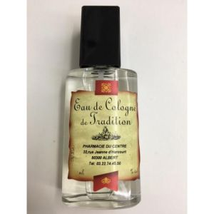 EAU DE COLOGNE DE TRADITION 125ml Spray - Visage et Corps - Mise en Flacon à la Pharmacie - Vaporisa