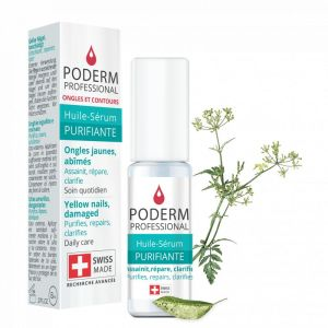 PODERM PROFESSIONAL Huile Sérum Purifiante 8ml - Ongles Jaunes, Abîmés - 100% Naturel