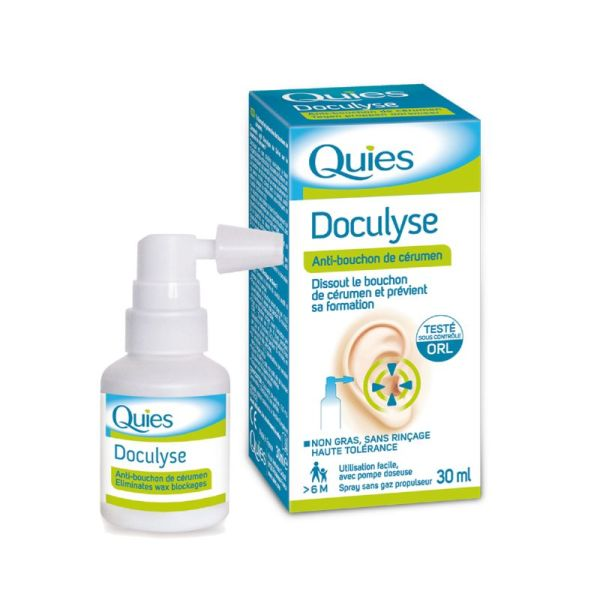 DOCULYSE Spray 30ml - Solution Auriculaire Anti Bouchon de Cérumen