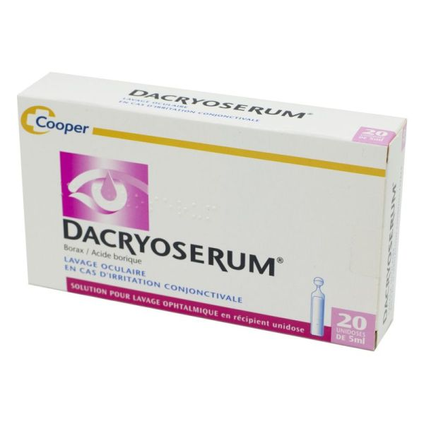 Dacryoserum, solution pour lavage ophtalmique - 20 unidoses de 5ml