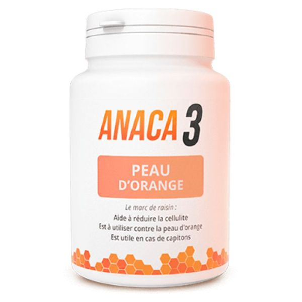 ANACA 3 Peau d' Orange - Marc de Raisin, Curcuma, Vitamine C, Zinc, Chrome, Cuivre - Bte/90