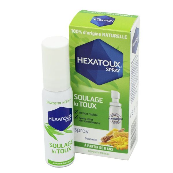 HEXATOUX Spray 30ml - Soulage la Toux, Action Rapide - 100% d' Origine Naturelle