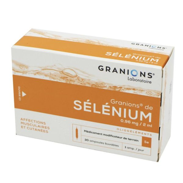GRANIONS DE SELENIUM, suspension buvable - 30 ampoules 2 ml