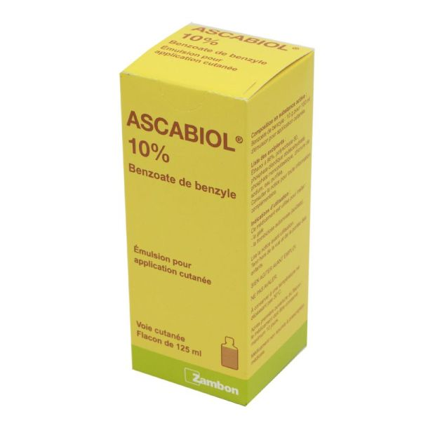 Ascabiol 10 %, émulsion pour application cutanée - Flacon 125 ml