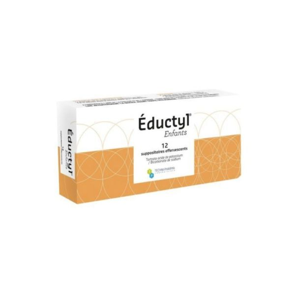 Eductyl Enfants,12 suppositoires effervescents