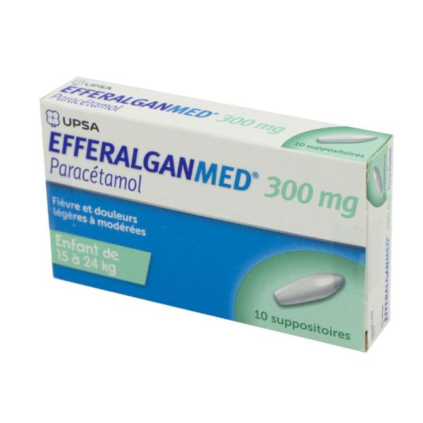 Efferalganmed 300 mg - 10 suppositoires
